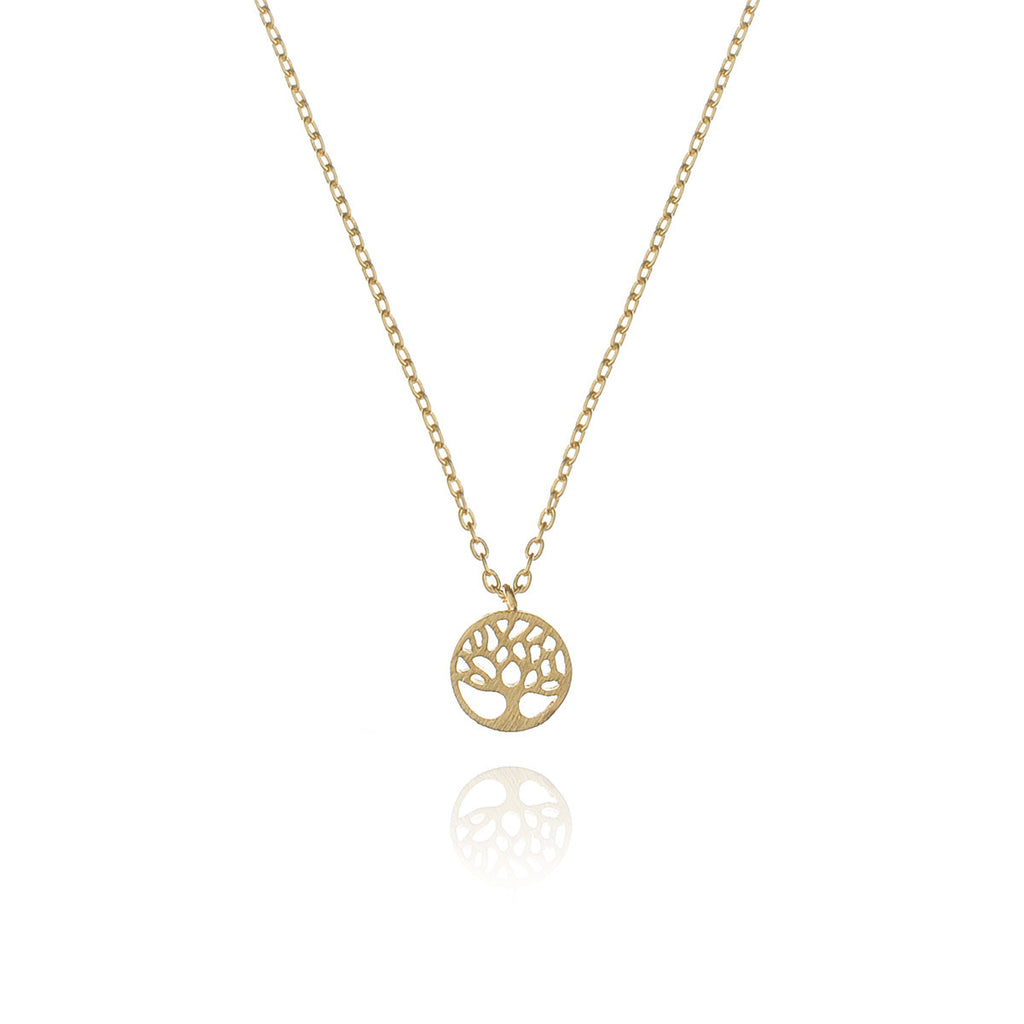 mini tree of life necklace - gold