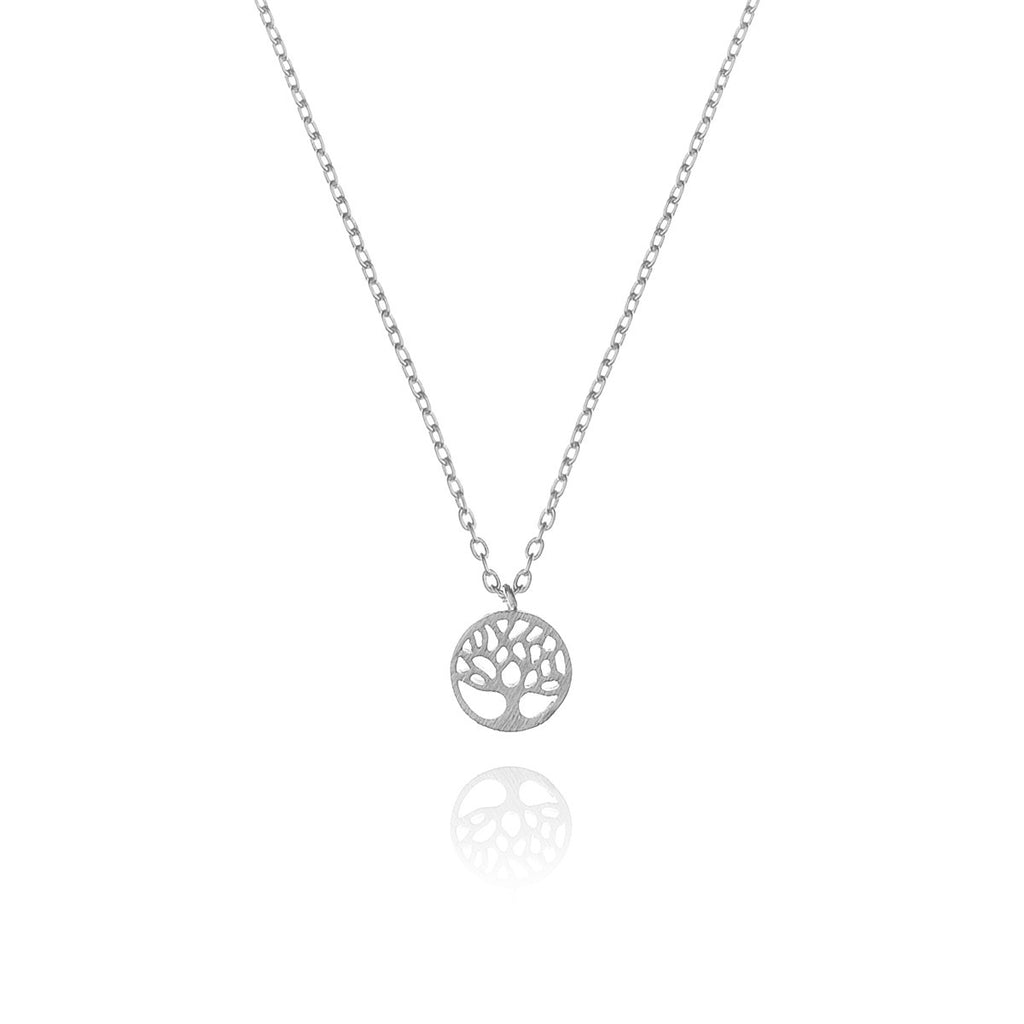 mini tree of life necklace - silver