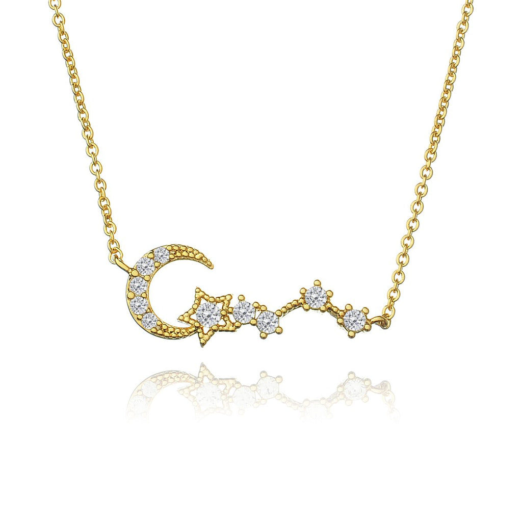 Moonbeam Gem Necklace - gold