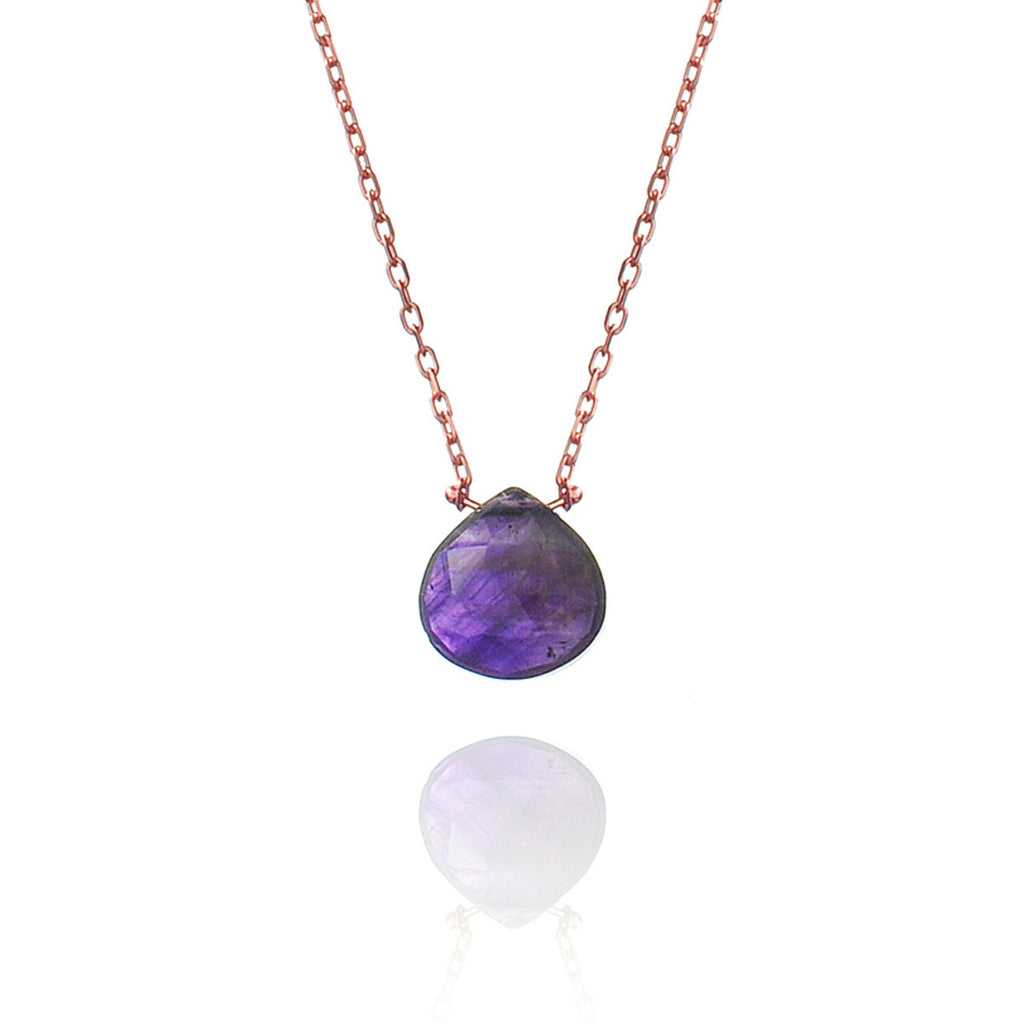 Mini Amethyst Chain - Rose gold