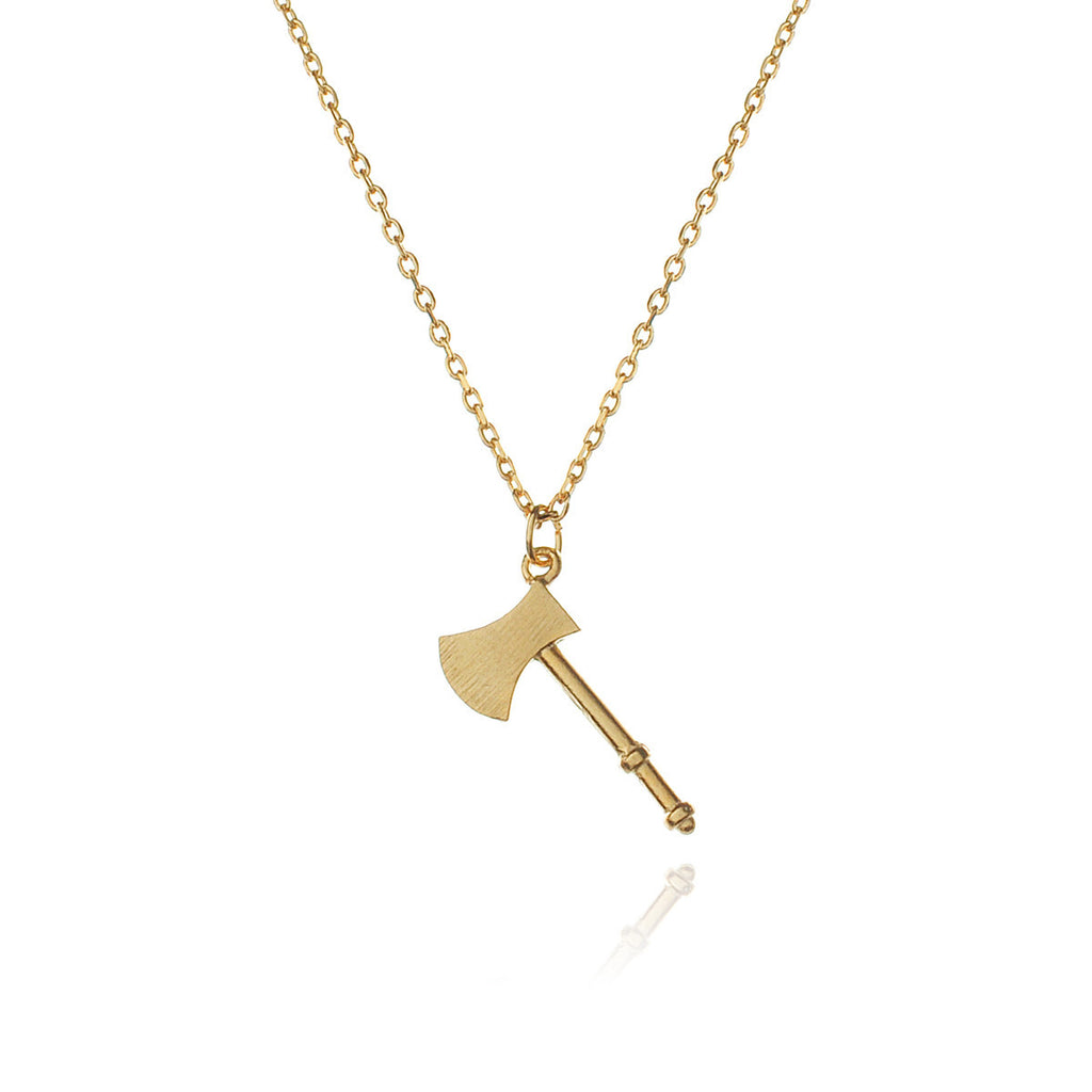 Over You Axe Necklace - gold
