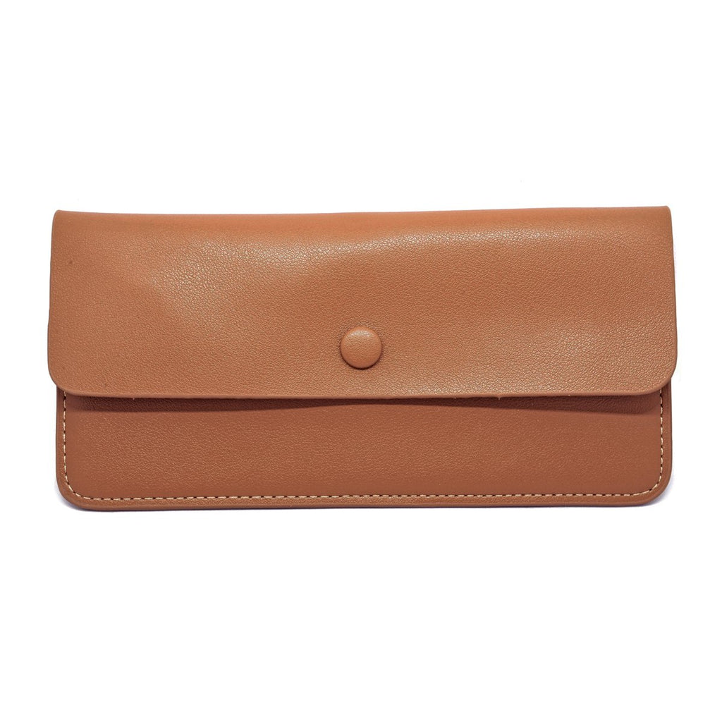 Premonition Leather Wallet front - tan