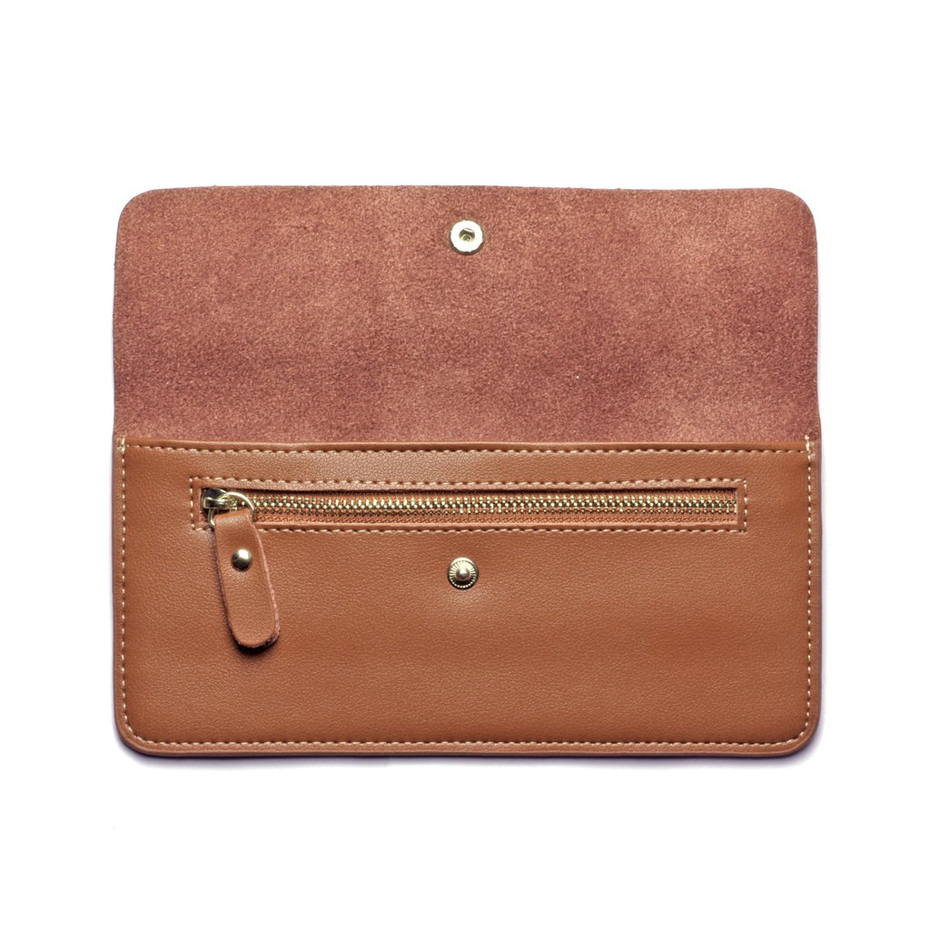 Premonition Leather Wallet inside - tan
