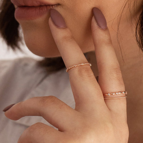 Ever Ring on model - rose gold