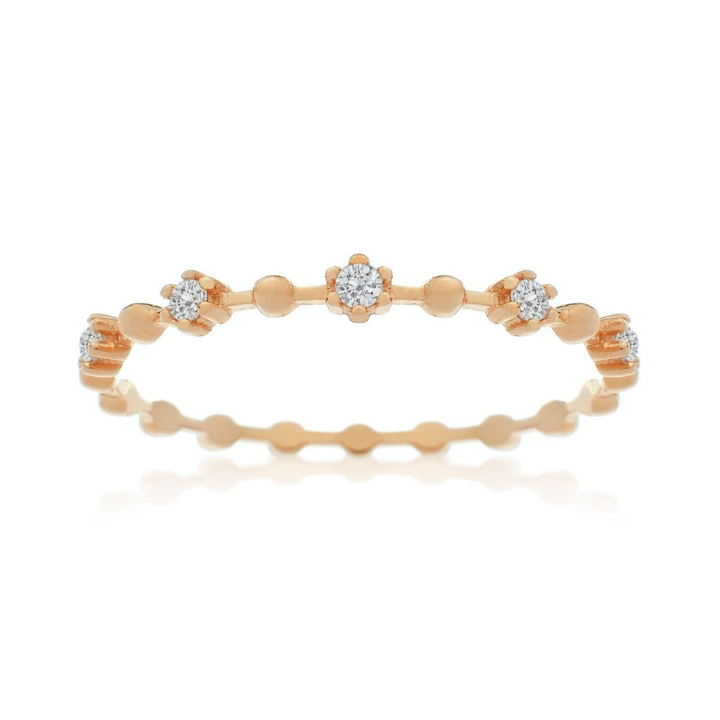 Juliet Gemstone Ring - rose gold