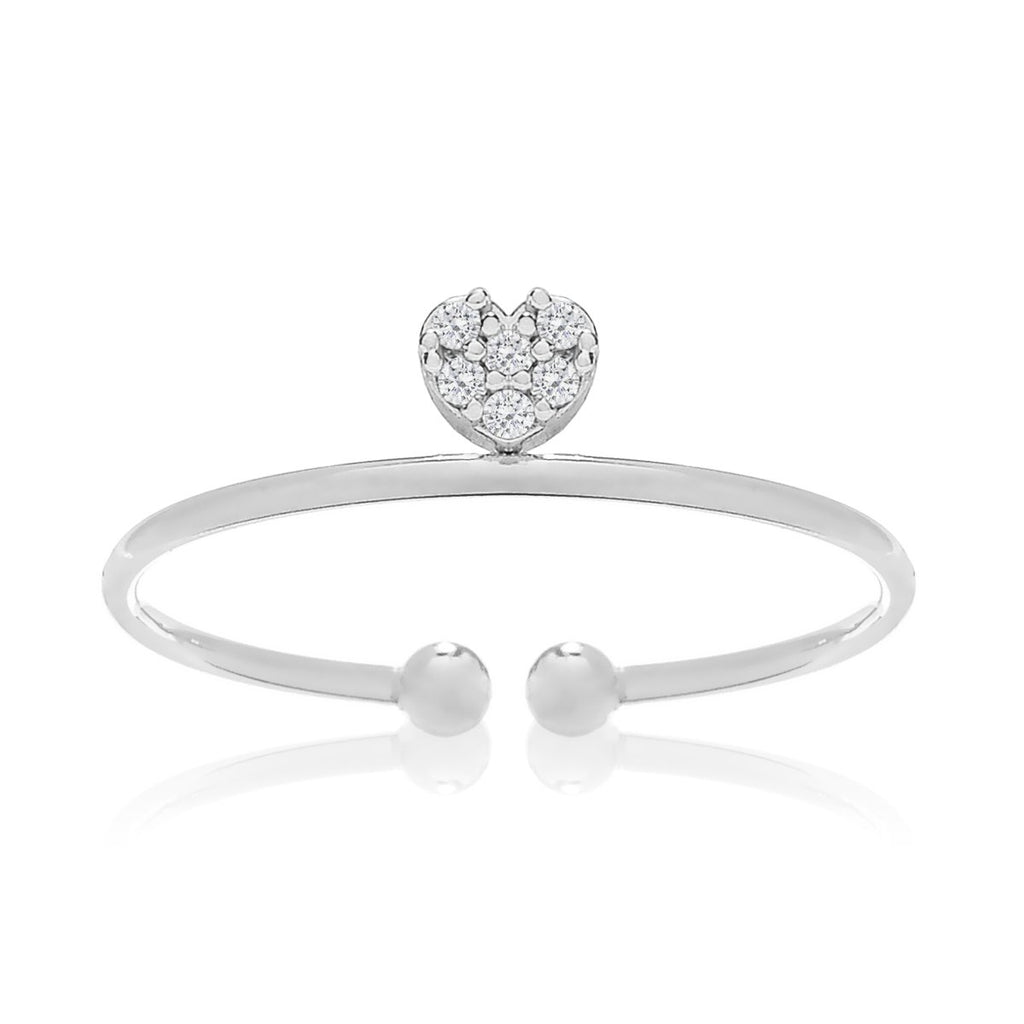 Love Song Heart Ring - silver