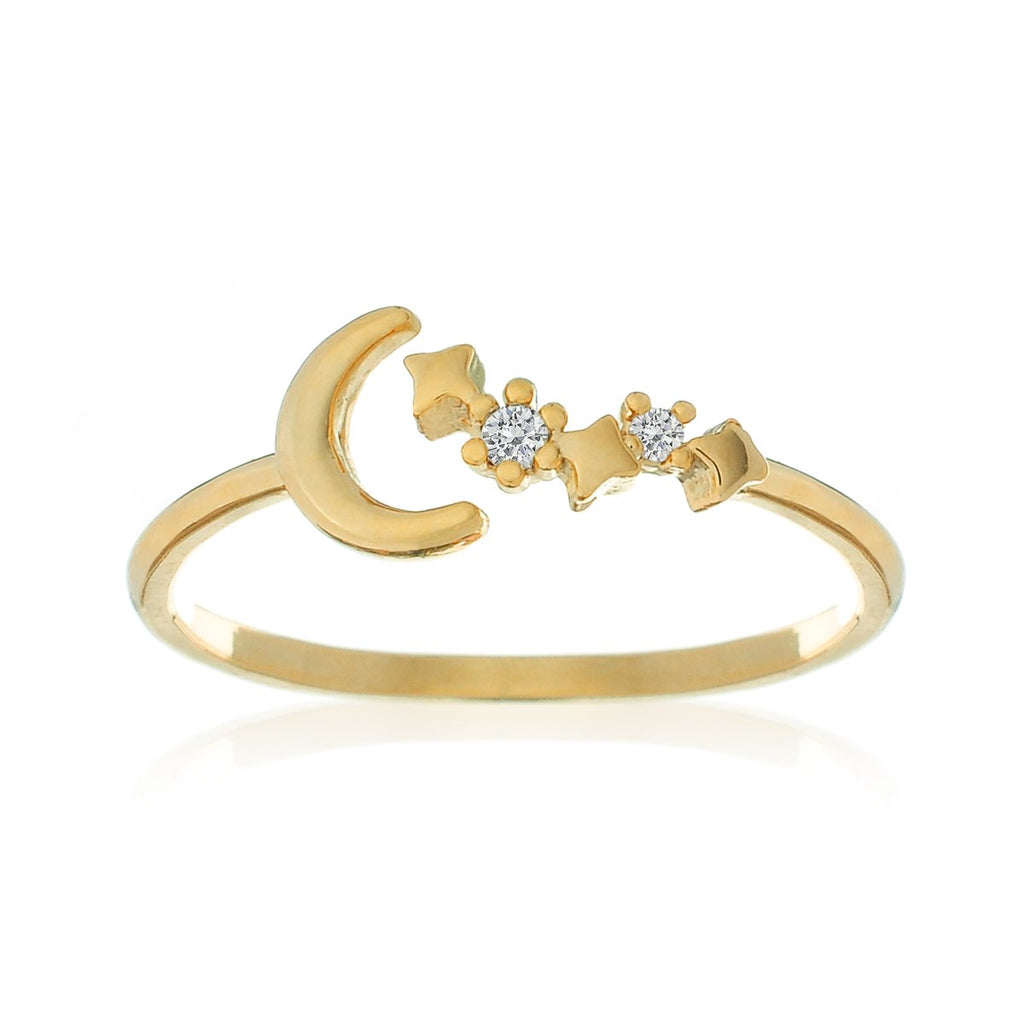 Moonbeam Sparkle Ring - gold