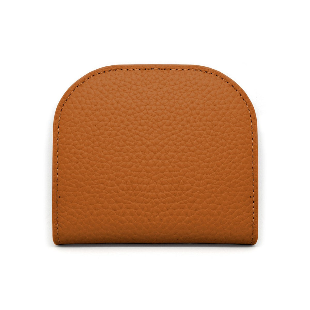 Suri Leather Wallet front - tan