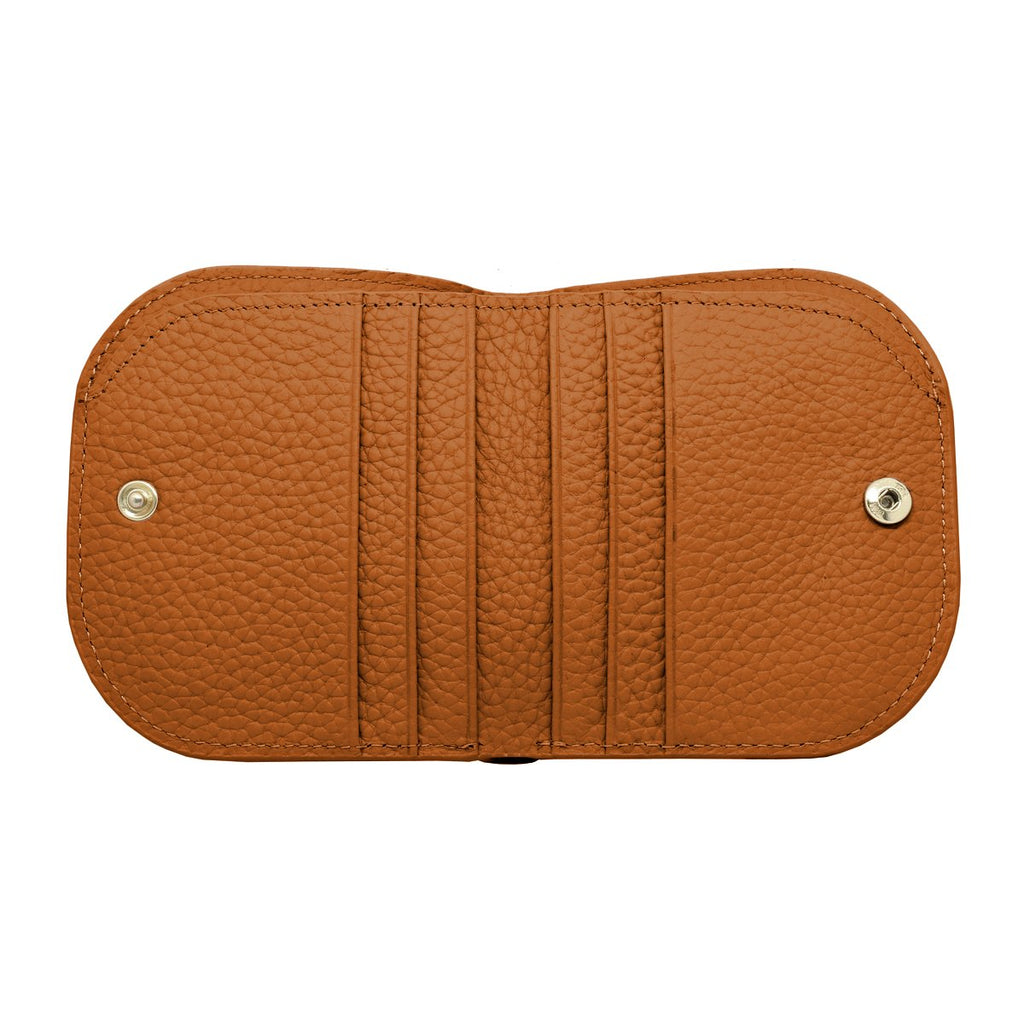 Suri Leather Wallet inside - tan
