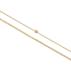 Chicago Double Layer Bracelet - gold