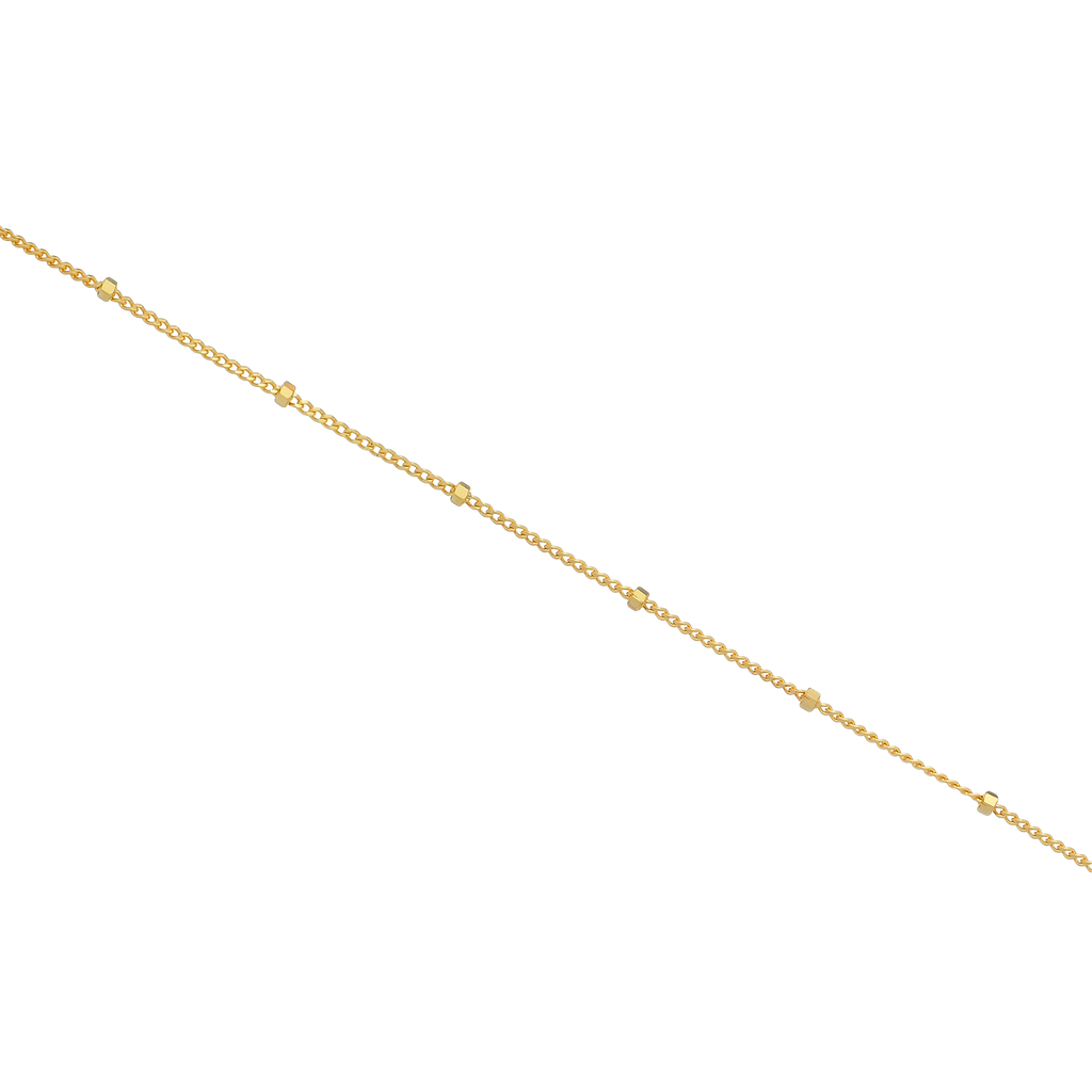 Disperse Bead Chain Anklet - gold
