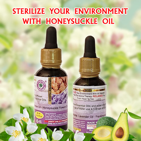 Sterilize your environment with honeysuckle oil