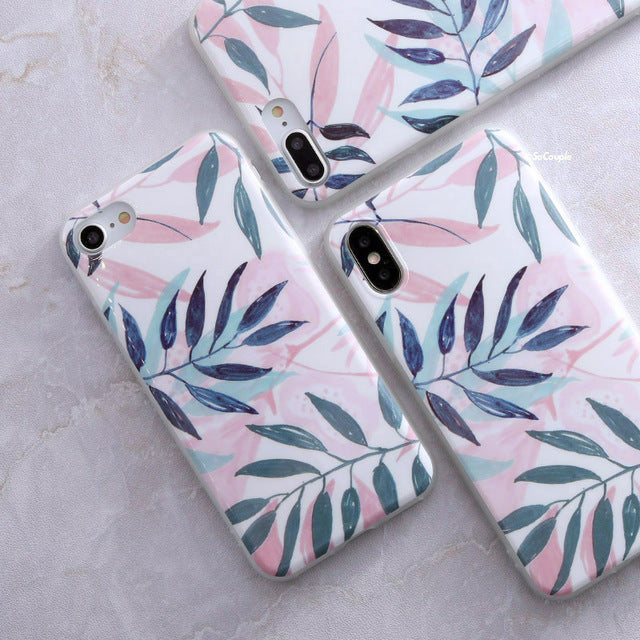 Pastel leaves iPhone Case Cover