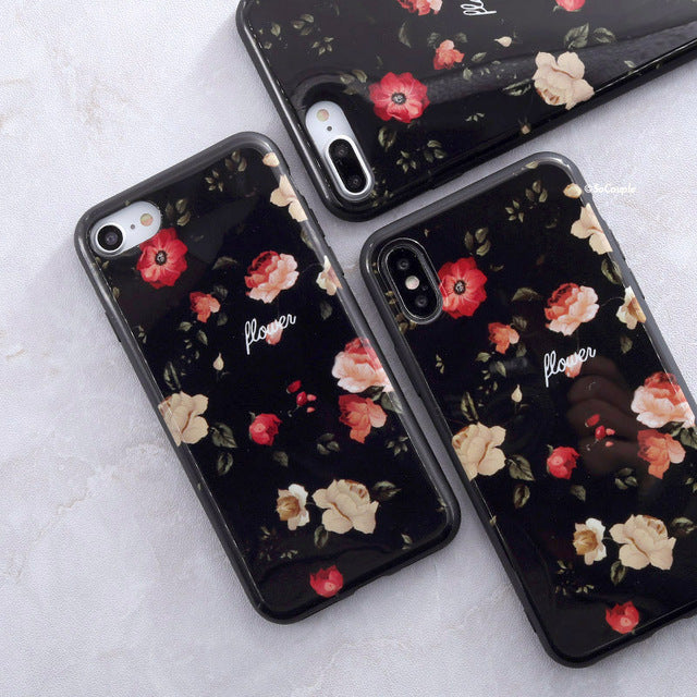 Little Flowers  Granite - Marble iPhone Case Cover