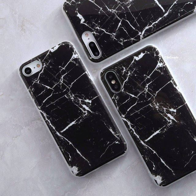 Black and White Marble iPhone Case - Epik Case