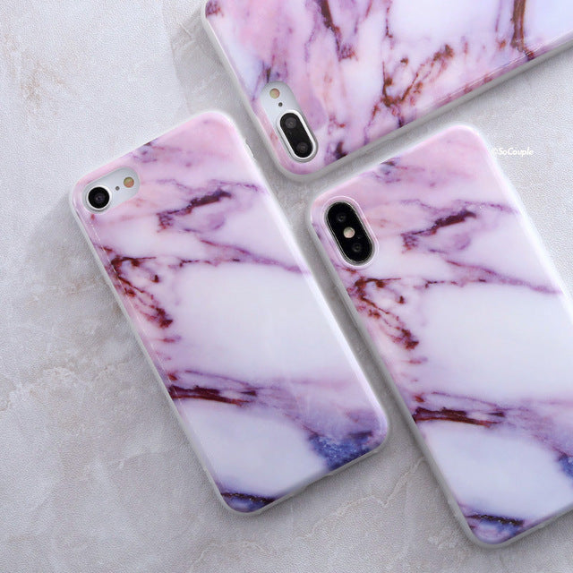 Pink and Purple Marble iPhone Case - Epik Case