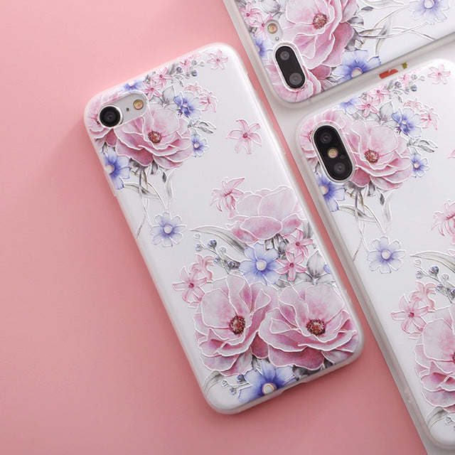 Pink and Purple Flowers iPhone Case - Epik Case