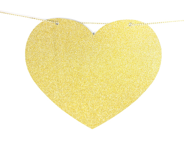 DIY Drunk in Love Gold Glitter Banner