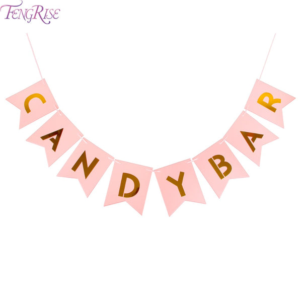 Blush & Gold Candy Bar Banner