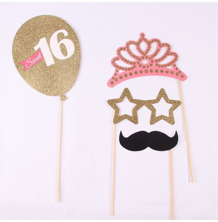 20/PK Sweet 16 Birthday Party Photo Booth Props
