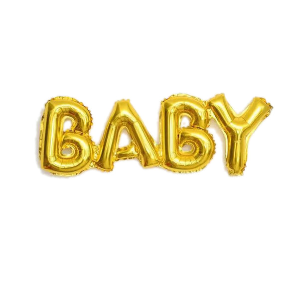 "16"" ""BABY"" Letter Gold Foil Baby Shower Balloons"
