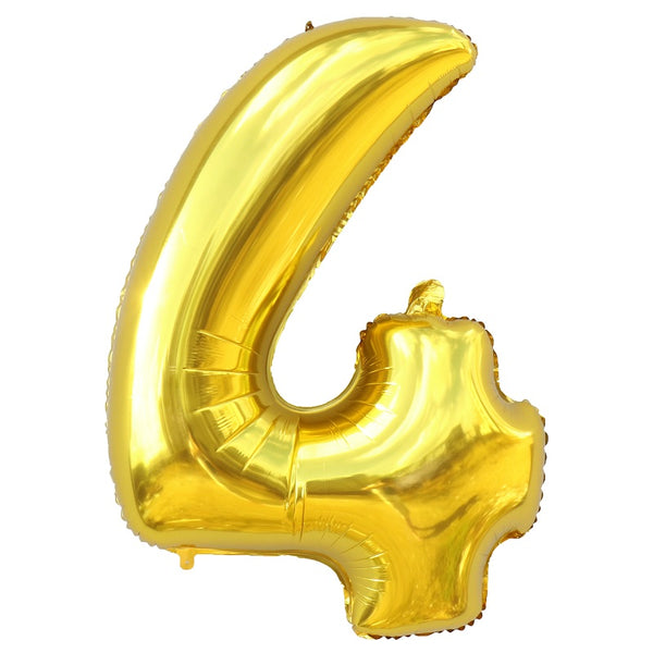 40 inch Gold Foil Balloon Large Helium Number Balloons