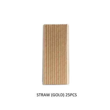 25/PK Stylish Gold Paper Straws