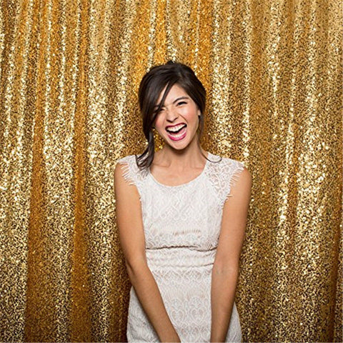 Glitz Gold Sequin Backdrop | Multiple Sizes Available