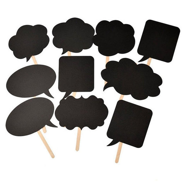 10/PK DIY Chalkboard Photo Booth Props