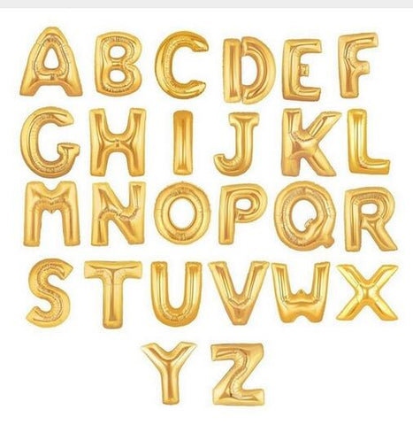 XL 40 inch Foil Letter Balloons | Available in Gold or Silver