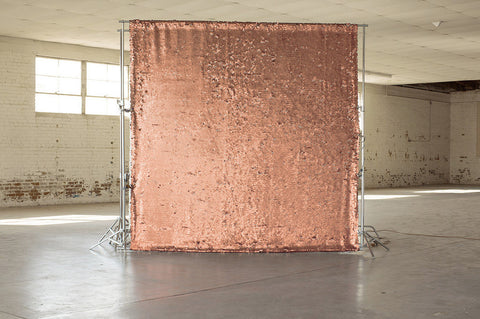 Glitz Rose Gold Sequin Backdrop | Multiple Sizes Available