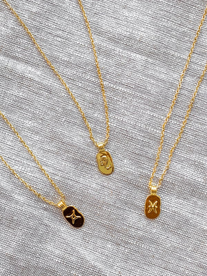 The 14K Gold Filled Horoscope Pendant Necklace  | Danielajanette.com