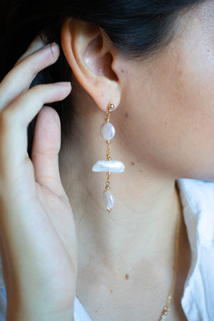 Mismatched Baroque Earrings | danielajanette.com