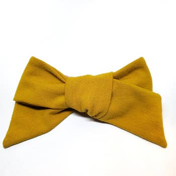 The Tiny Bow Shop - Mustard Jersey Modern Hairbow