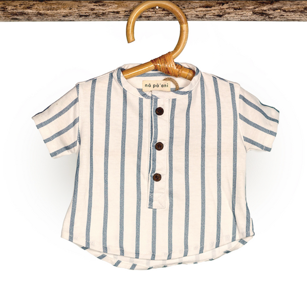Napaani Arturo Blue Stripe Shirt