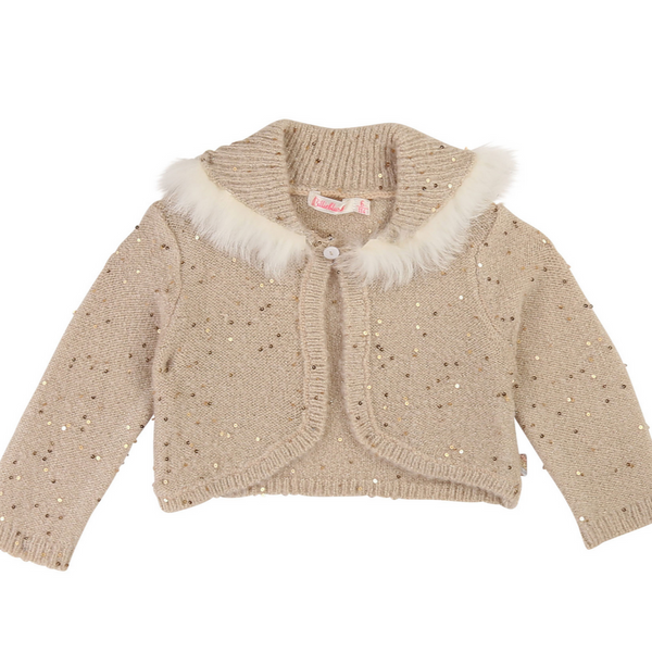 Billieblush Baby Gold Ceremony Knit Cardigan