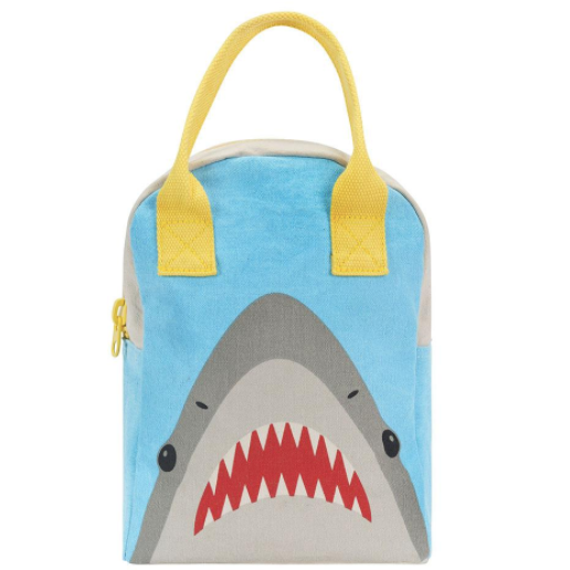 Shark Zipper Lunch Bag
