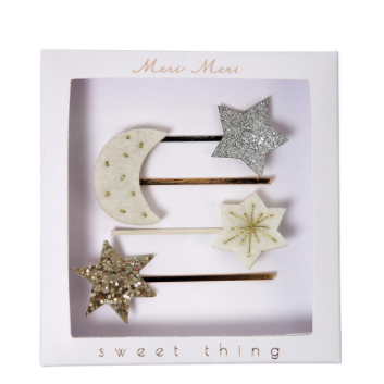 Moon & Star Hair slides