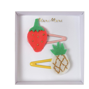 Pineapple & Strawberry Hair Clips