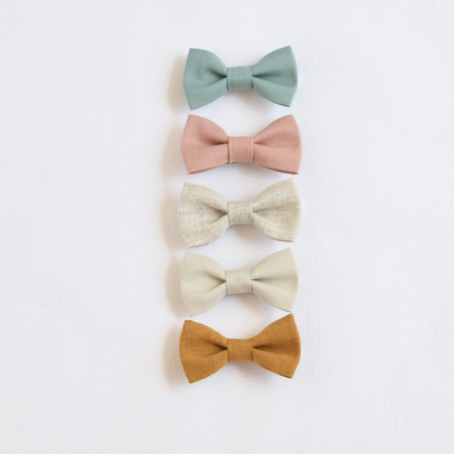Summer Linen Bow - Multiple Colors Available