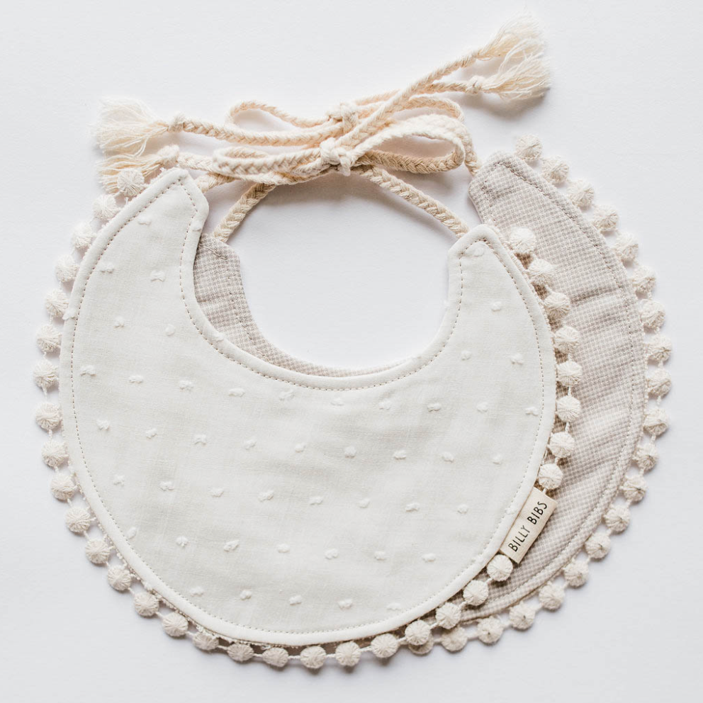 Cream Reversible Bib