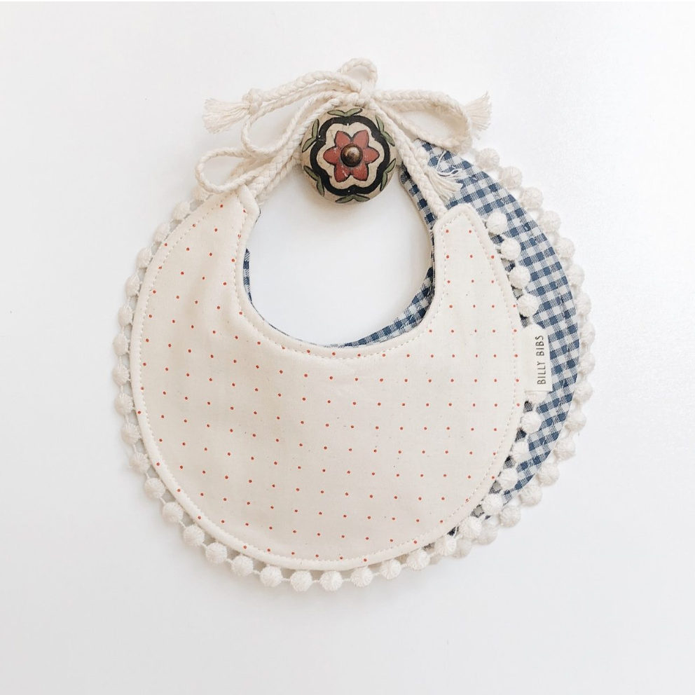 Checkers and Polka Dots Reversible Bib
