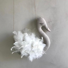 Handcrafted Linen Swan Mobile -  Mutiple Colors Available