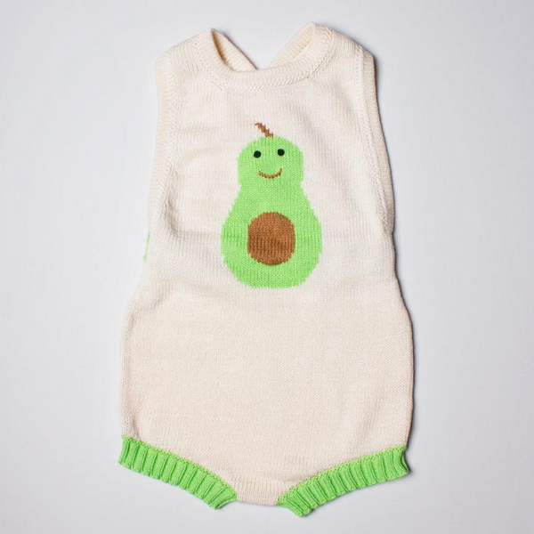 Estella Organic Cotton Avocado Romper