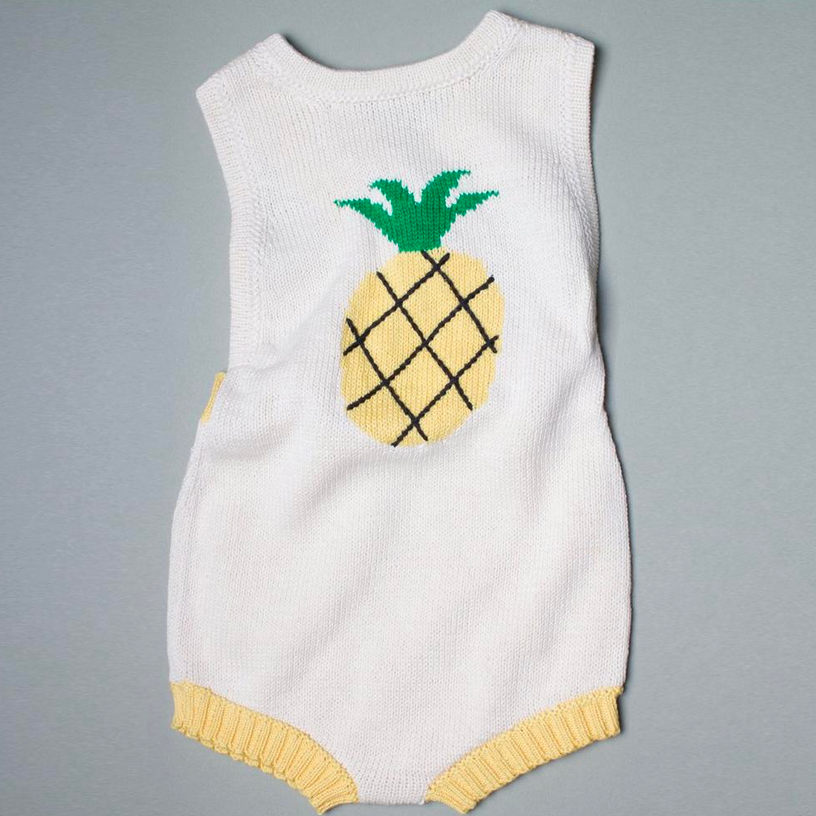 Estella Organic Cotton Pineapple Romper