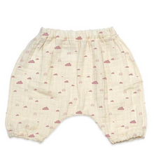 Ellie Fun Day Organic Rainbows & Clouds Harem Pants