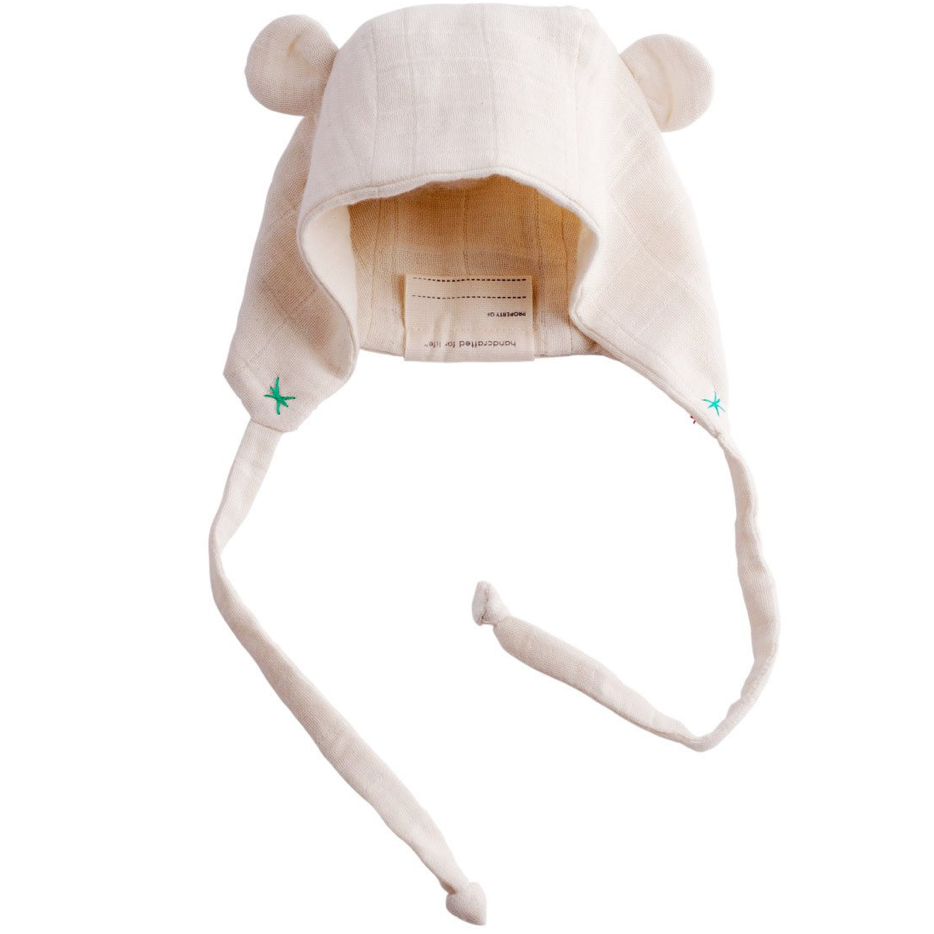 Ellie Fun Day Organic Flannel Bear Hat