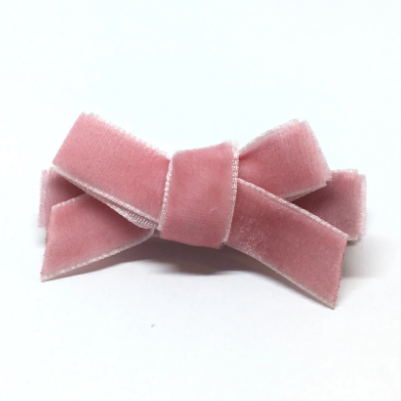 The Tiny Bow Shop - Velvet Mini Hair Bow - Multiple Colors