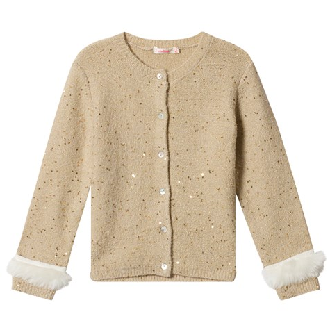 Billieblush Girls Gold Ceremony Cardigan