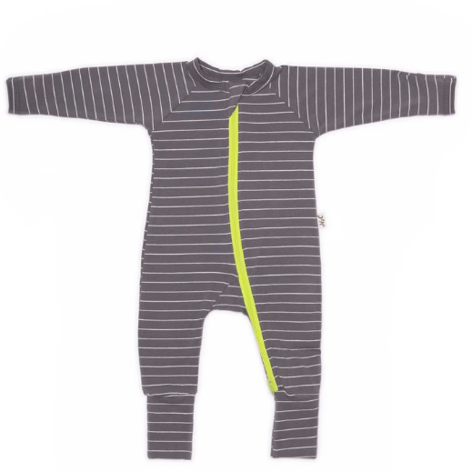 Nash & Cally Grey Stripe Simplesuit